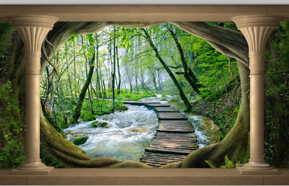 Download Mural Wallpaper Forest Gallery