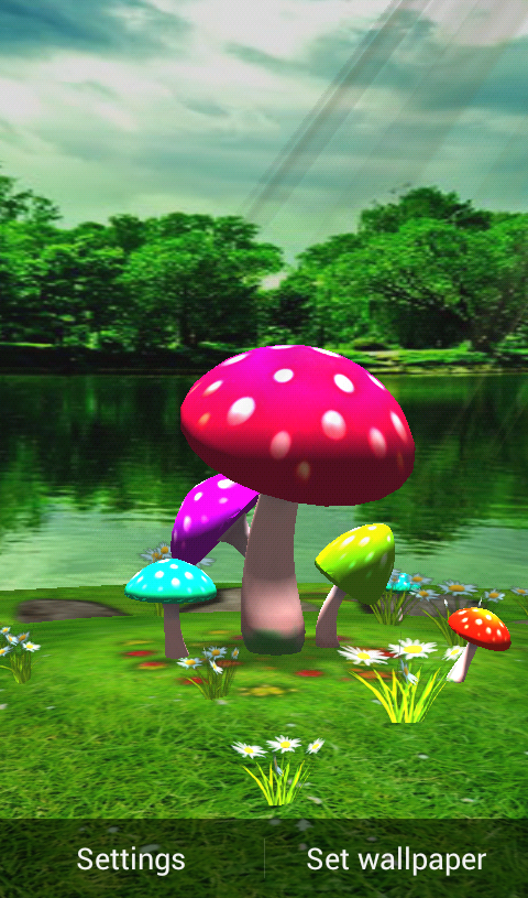 Mushroom 3D Wallpaper Download