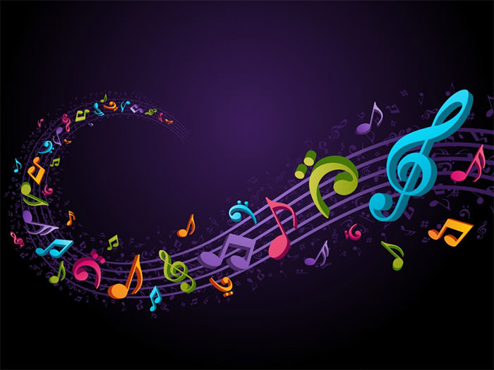 Musical Background Wallpaper