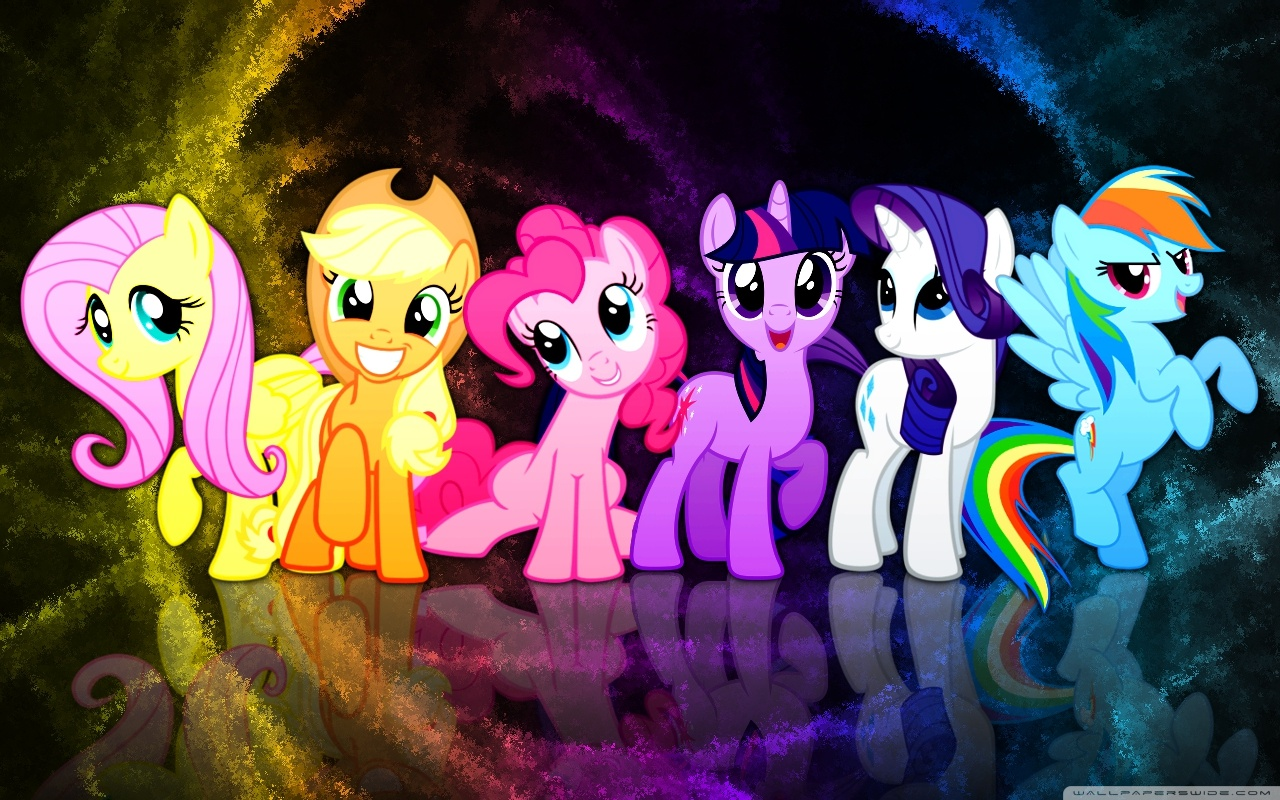 My Little Pony Mane 6 Wallpaper