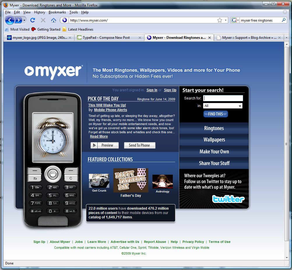 download myxer free ringtones wallpapers gallery