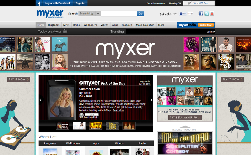 Myxer Free Ringtones Wallpapers
