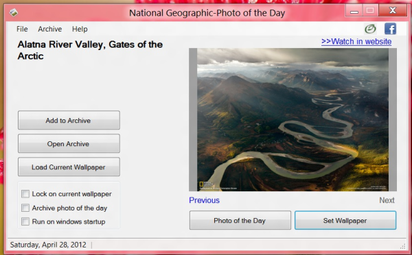 National Geographic Desktop Wallpaper Changer