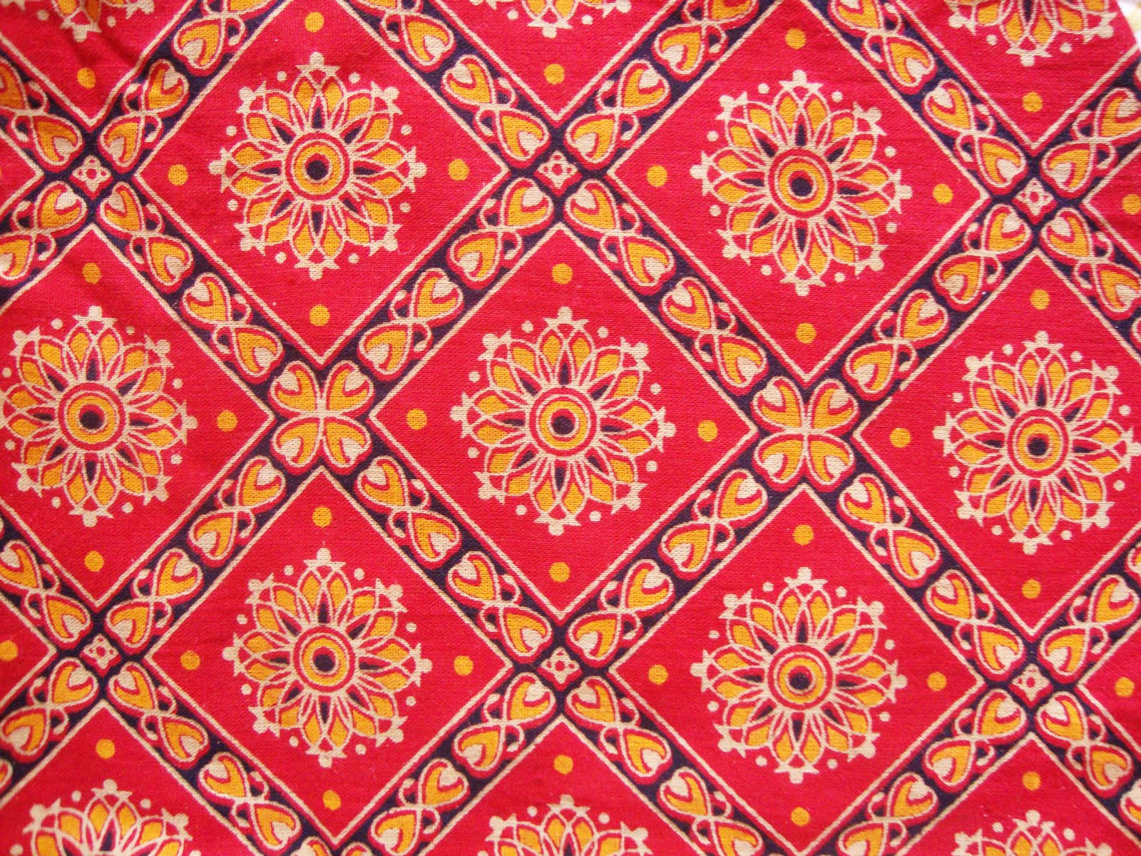 Traditional indian textile patterns