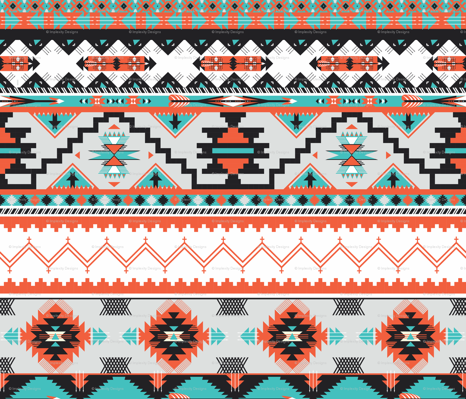 Native American Print Wallpaper