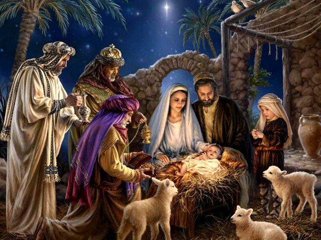 Nativity Scene Wallpaper