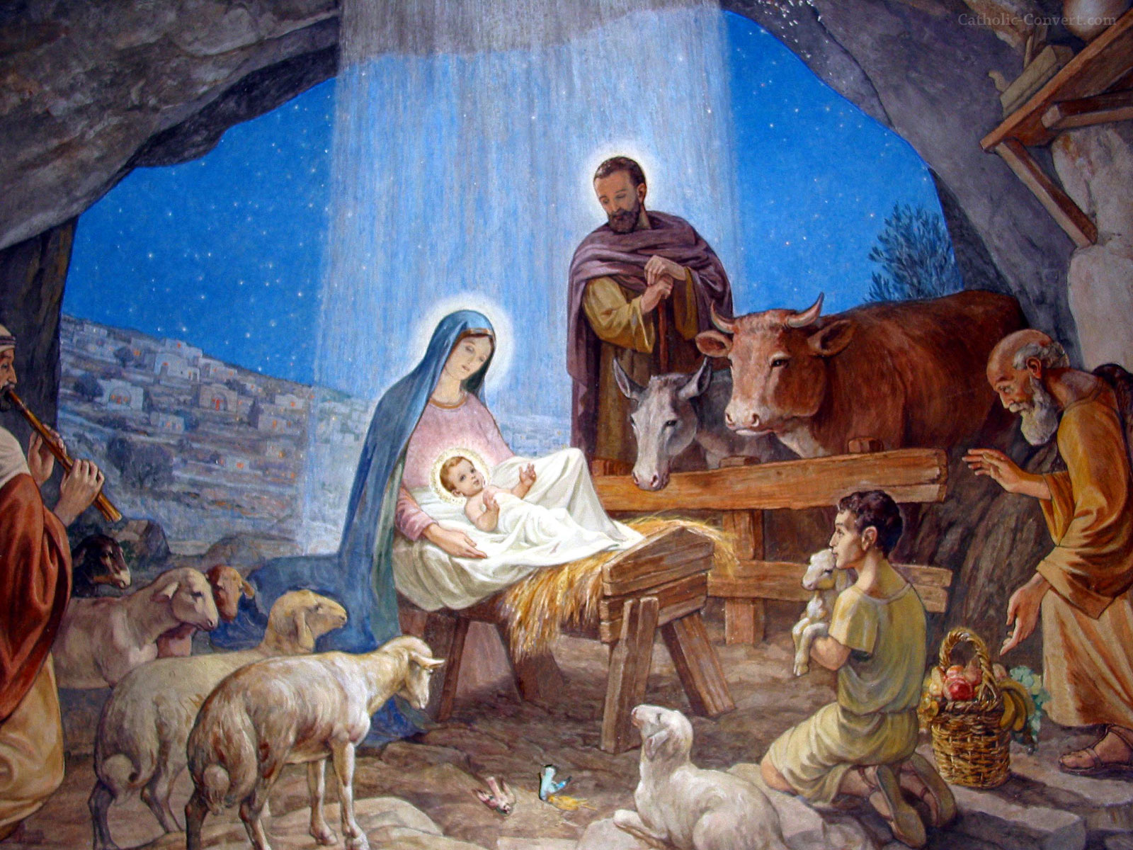 Nativity Scenes Wallpaper