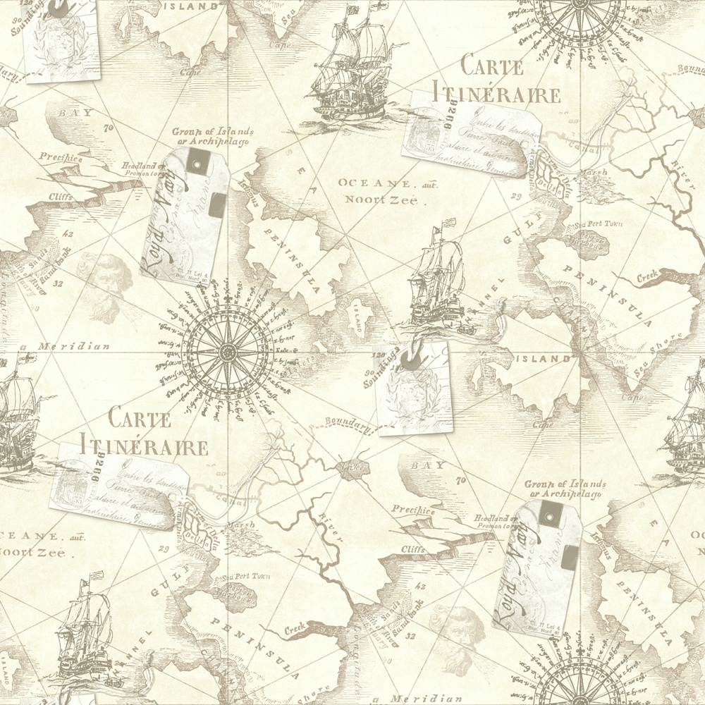 Nautical Map Wallpaper