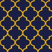 Navy And Gold Wallpaper