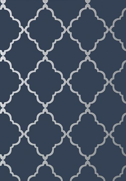 Navy And Silver Wallpaper