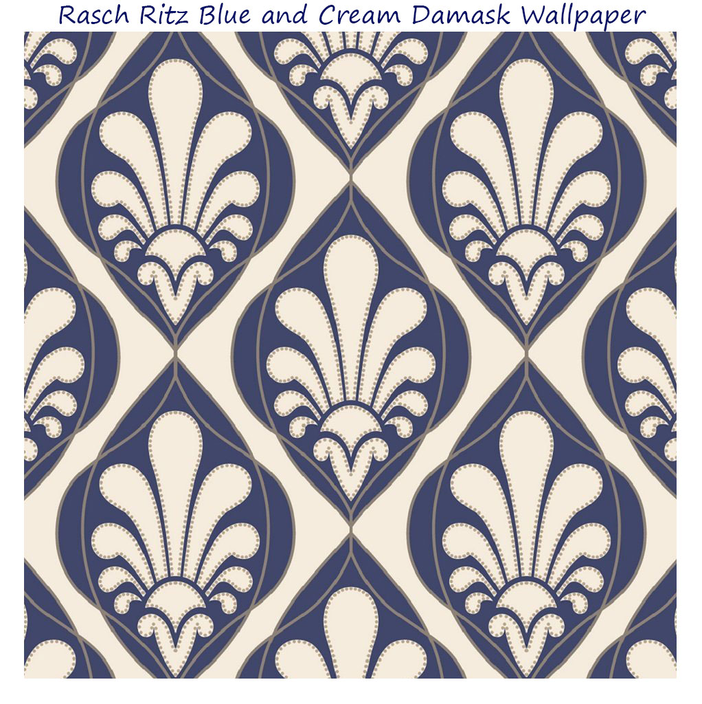 Navy Blue And Cream Wallpaper