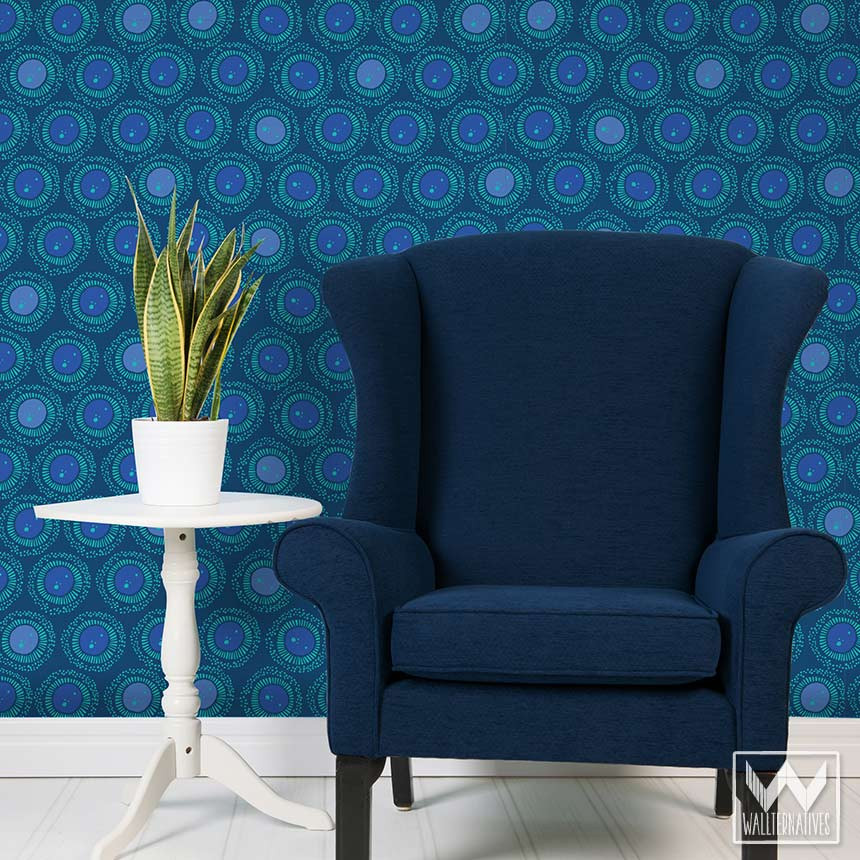 Download navy blue wallpaper for walls gallery for Navy blue wallpaper for walls