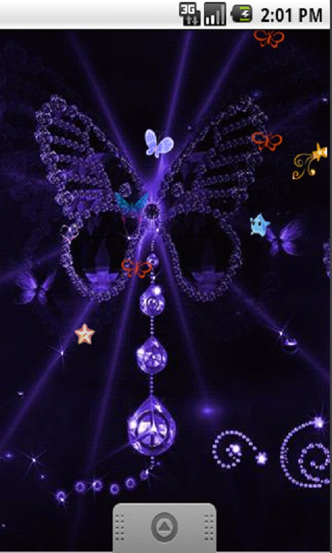 Neon Butterflies Live Wallpaper