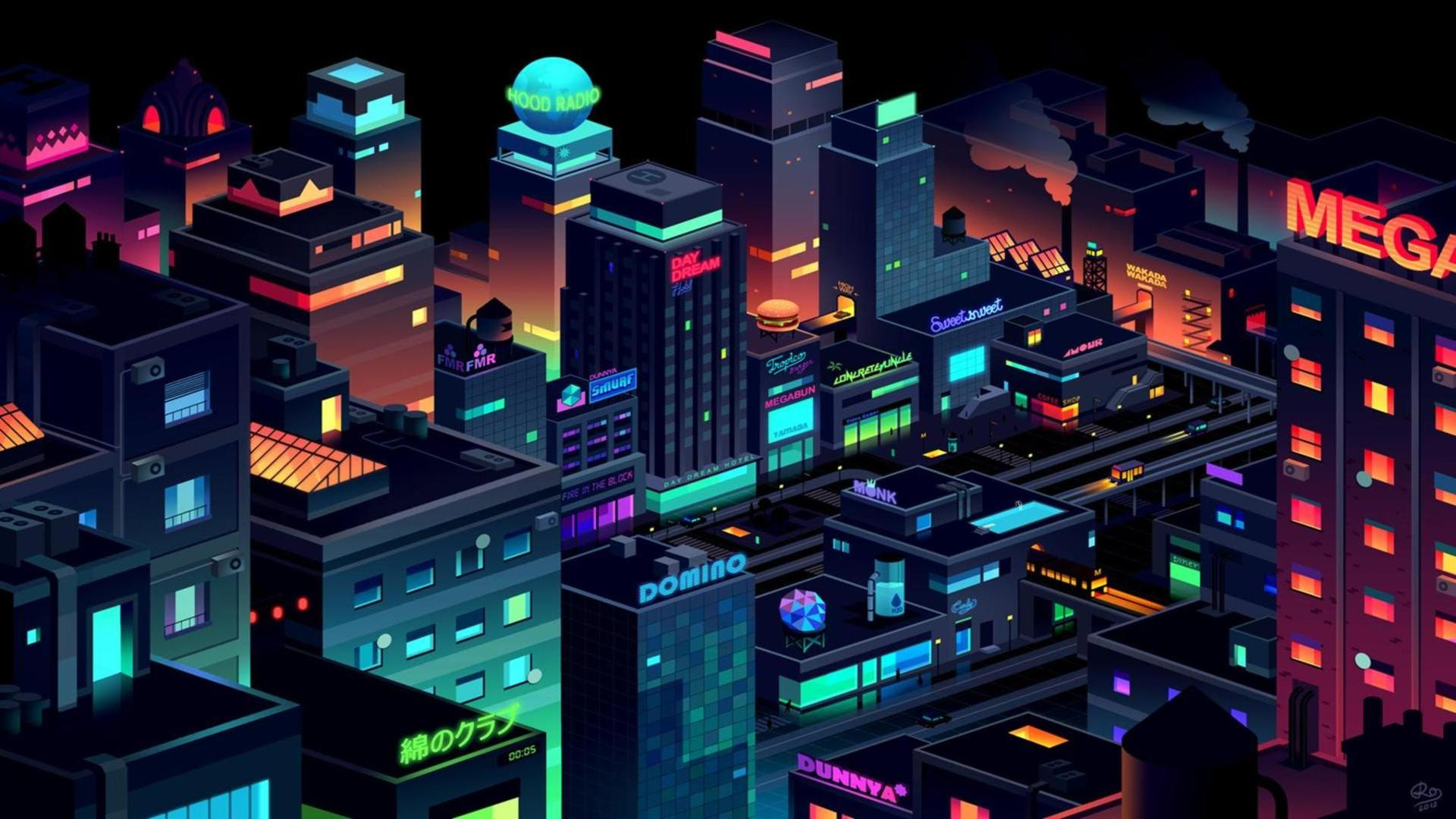 Download Neon City Wallpaper Gallery