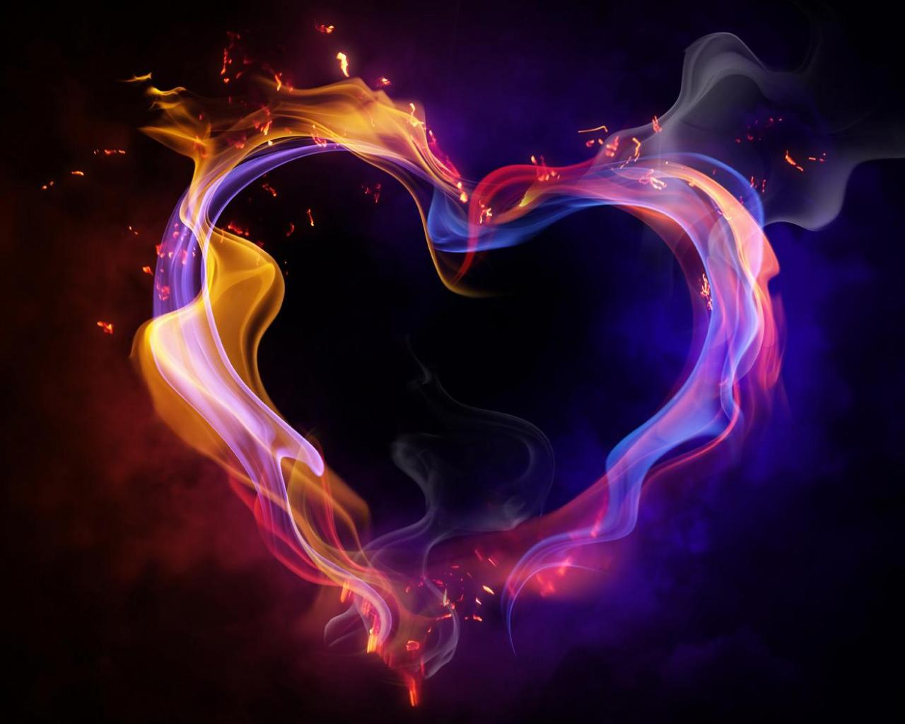 Neon Hearts Wallpaper