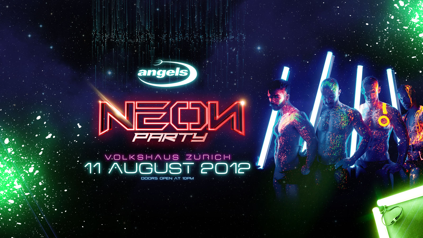 Neon Party Wallpaper