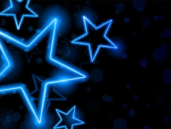 Neon Star Wallpaper