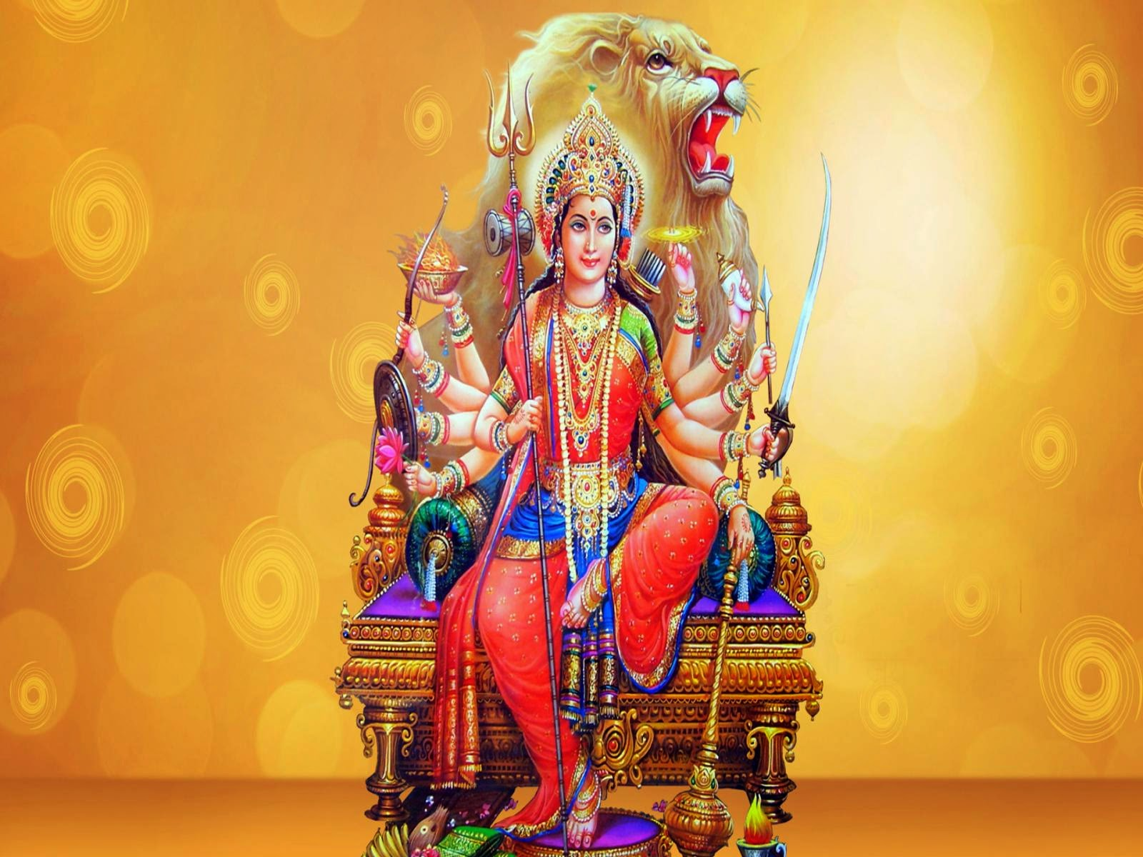 """durga maa From the durga chalisa shree maa explains that when we worship mother durga, and repeat her mantra, our egotism and its attachments (the """"i"""" and the """"mine."""