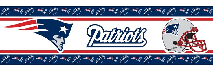 New England Patriots Wallpaper Border