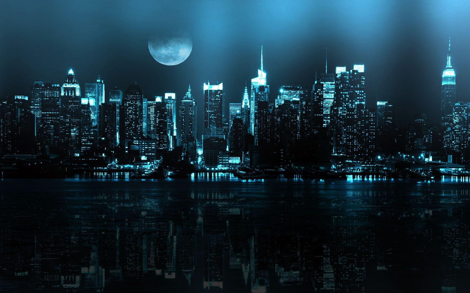 New York At Night Wallpaper