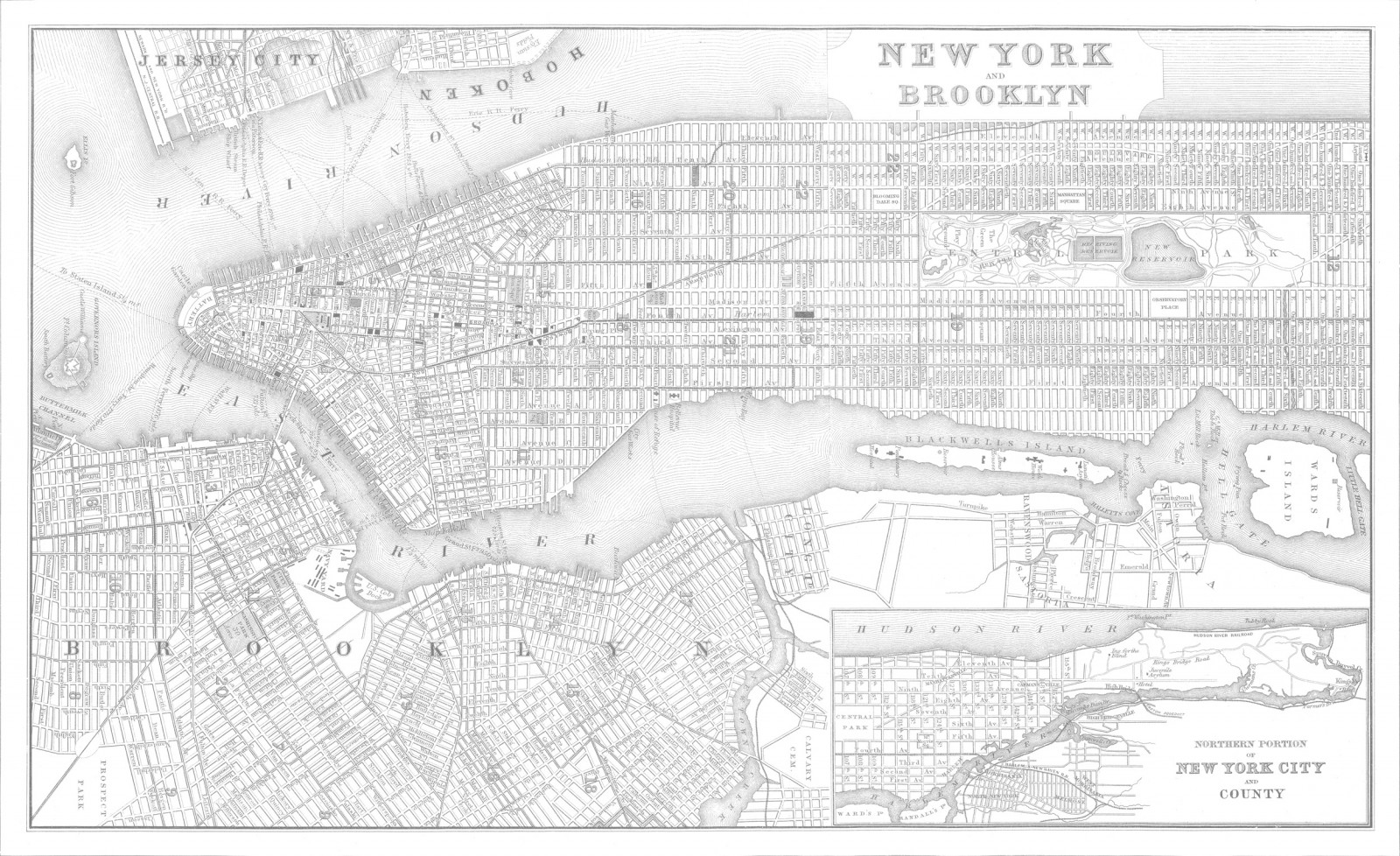 New York City Map Wallpaper
