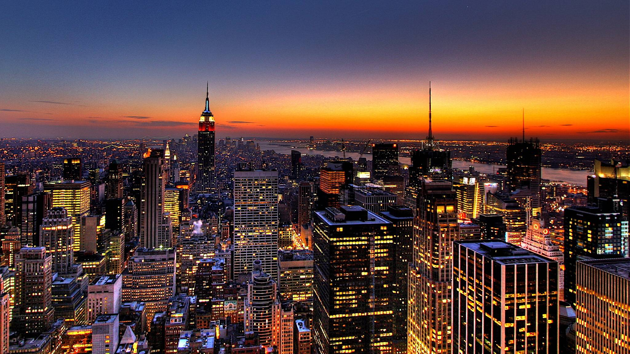 Download New York City Skyline At Night Wallpaper Gallery