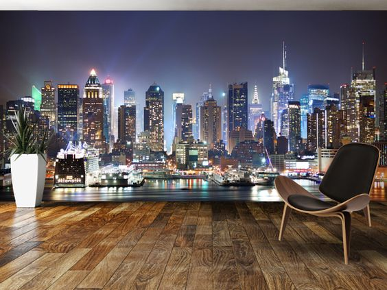New York City Skyline Wallpaper For Bedroom