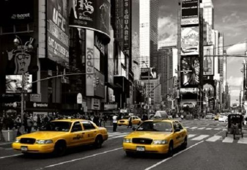 New York Wallpaper Yellow Taxi