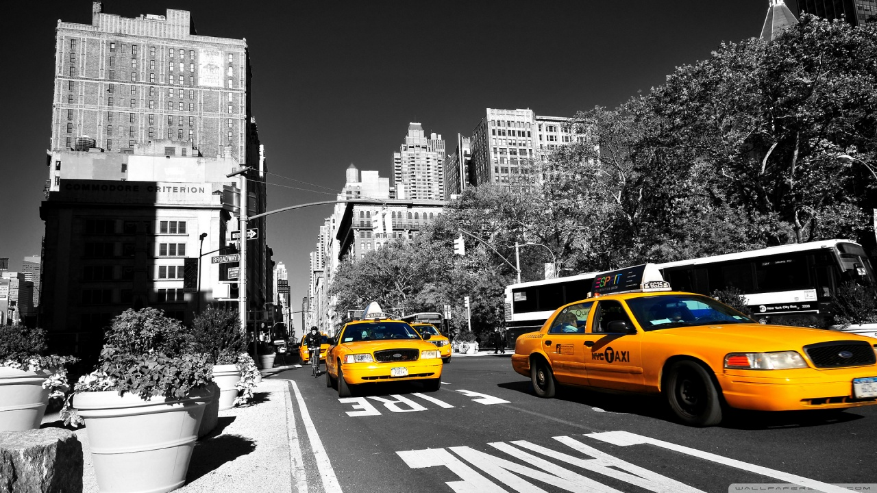 New York Yellow Taxi Wallpaper