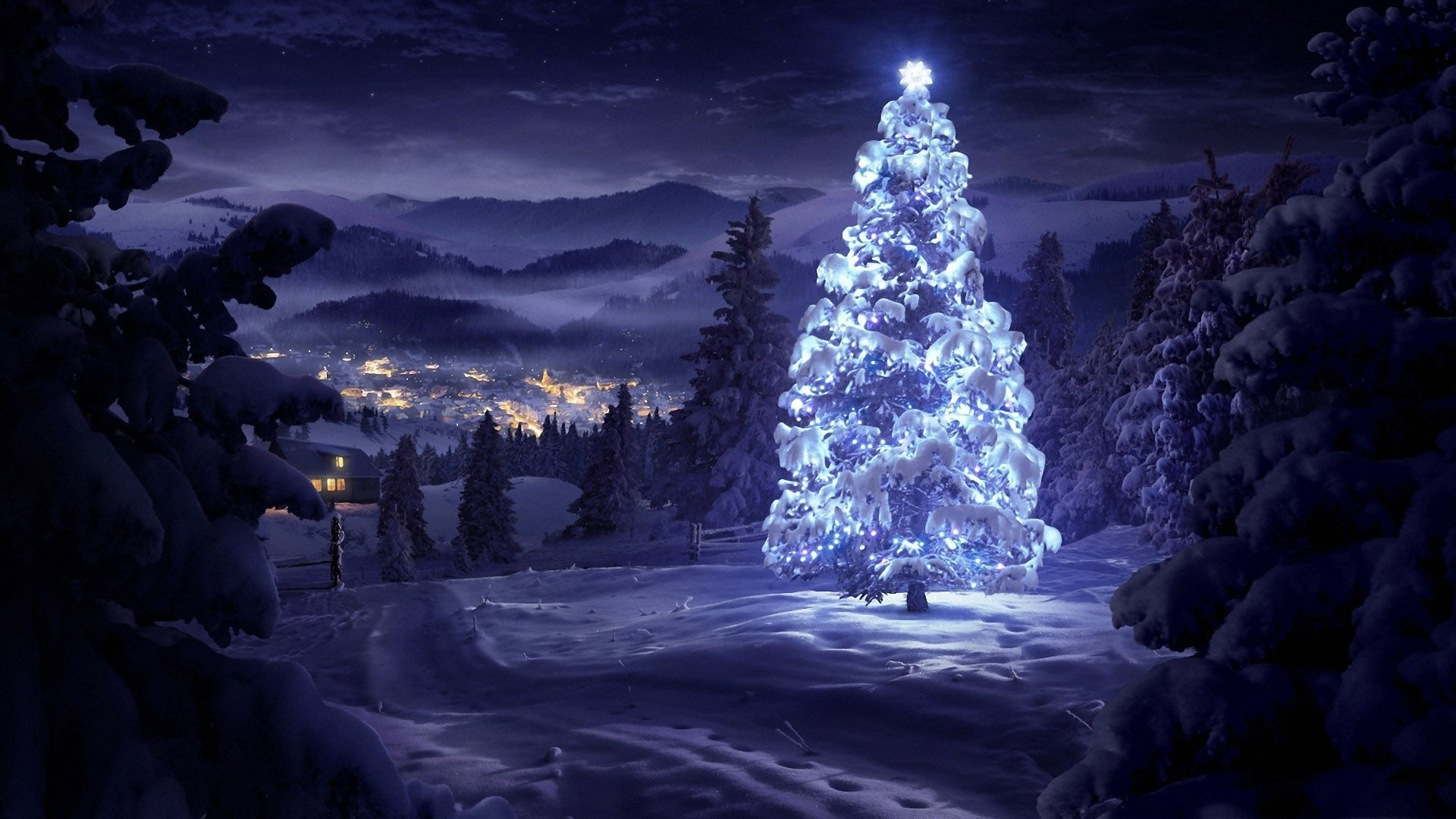 Night Christmas Wallpaper