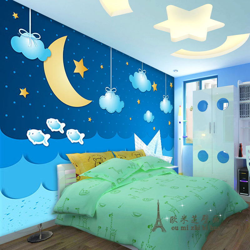 Beautiful Night Sky Wallpaper Bedroom Contemporary Home Design Ideas