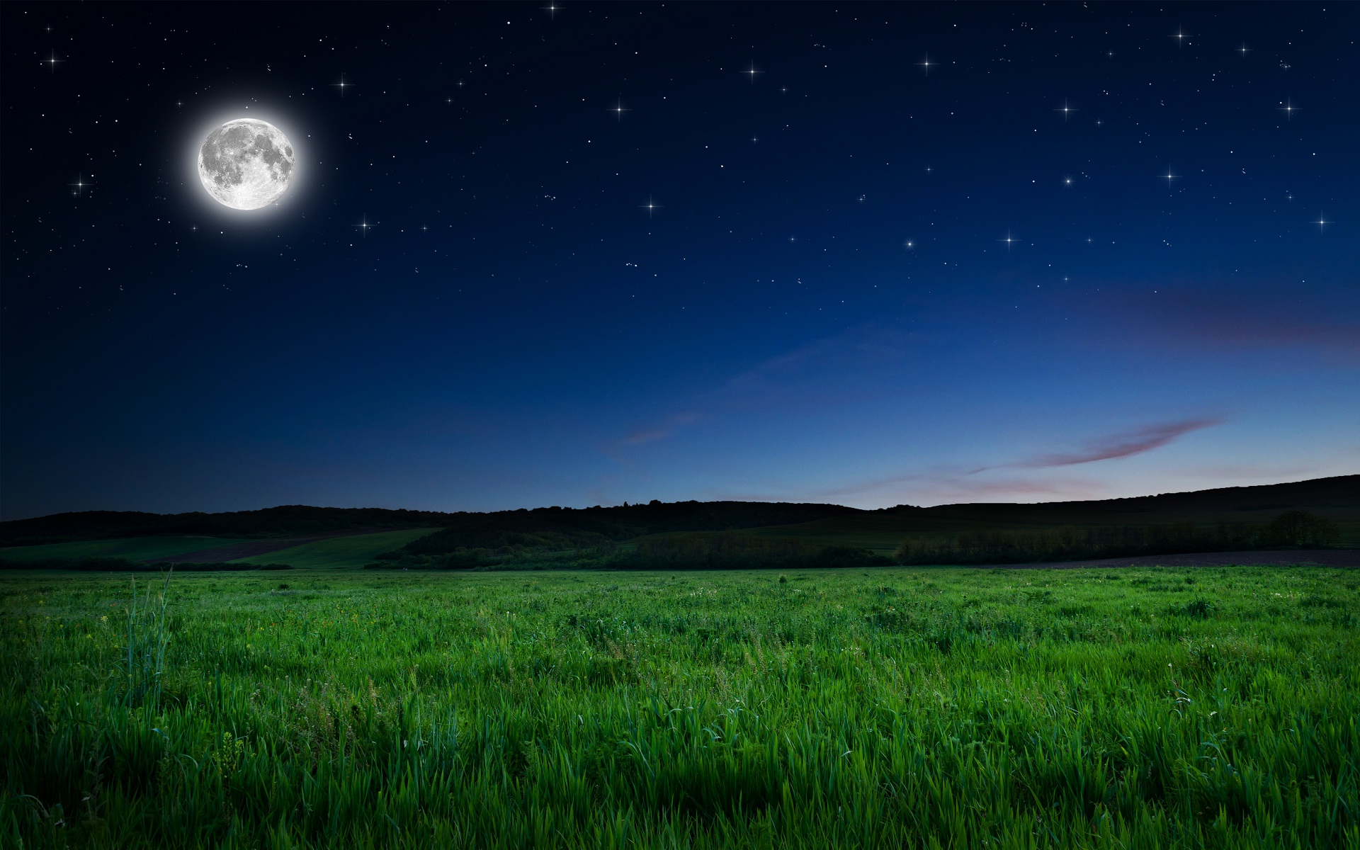 Night Wallpaper With Moon