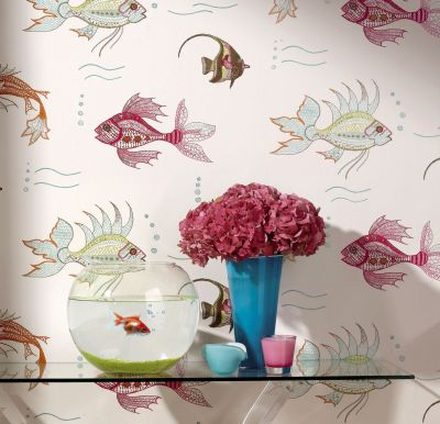 Nina Campbell Fish Wallpaper