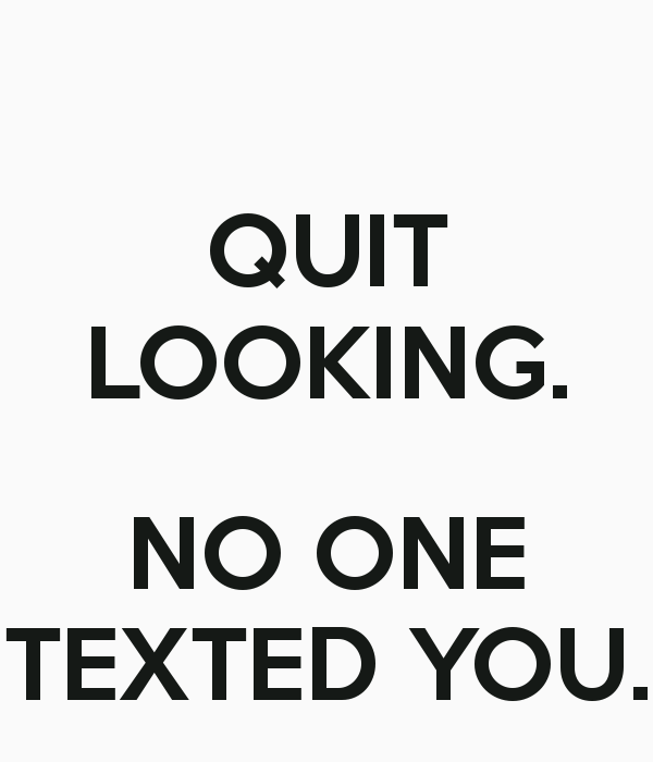 No One Texted You Wallpaper