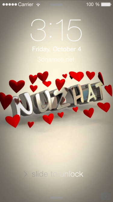 Nuzhat Name Wallpaper