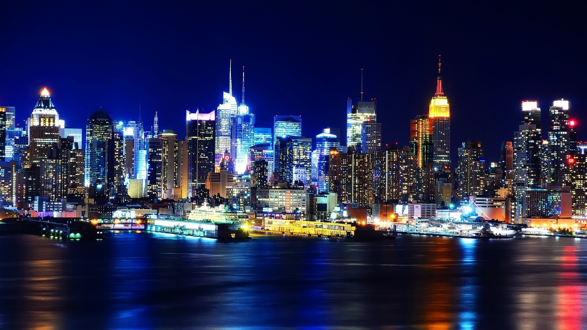 Nyc Night Skyline Wallpaper