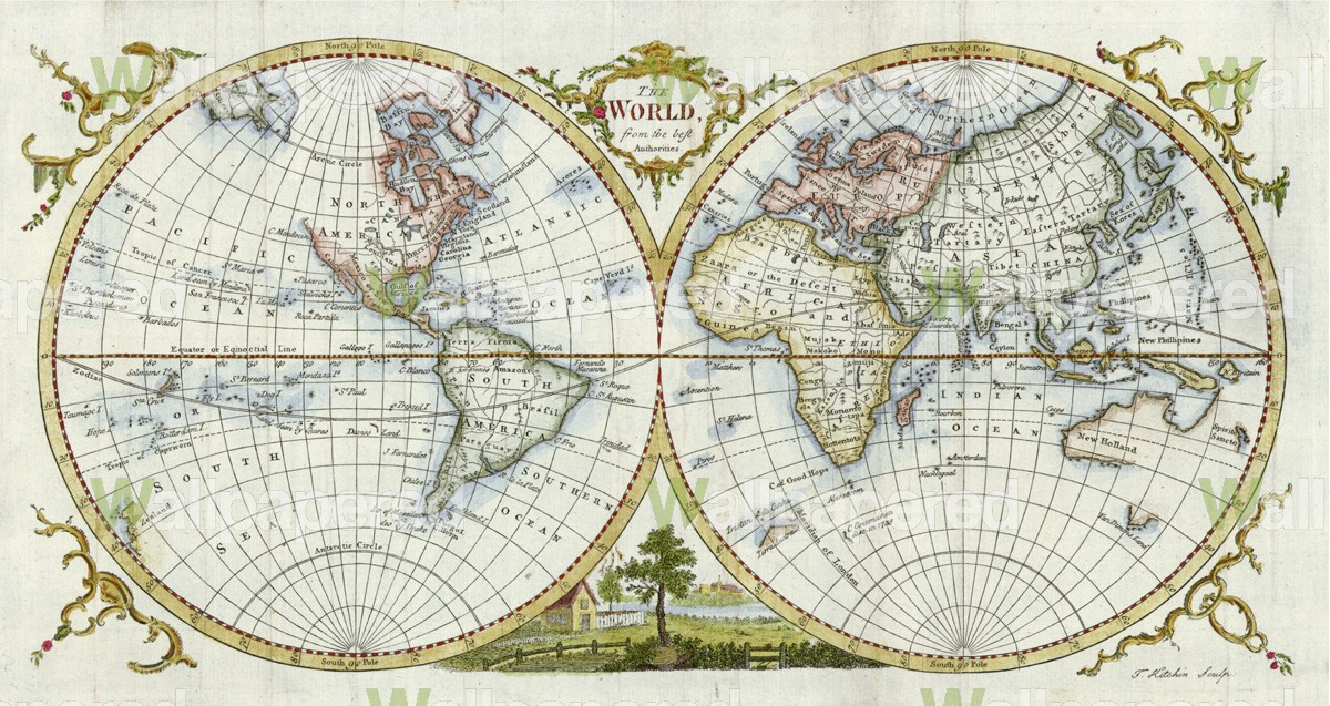Old Fashioned Map Wallpaper