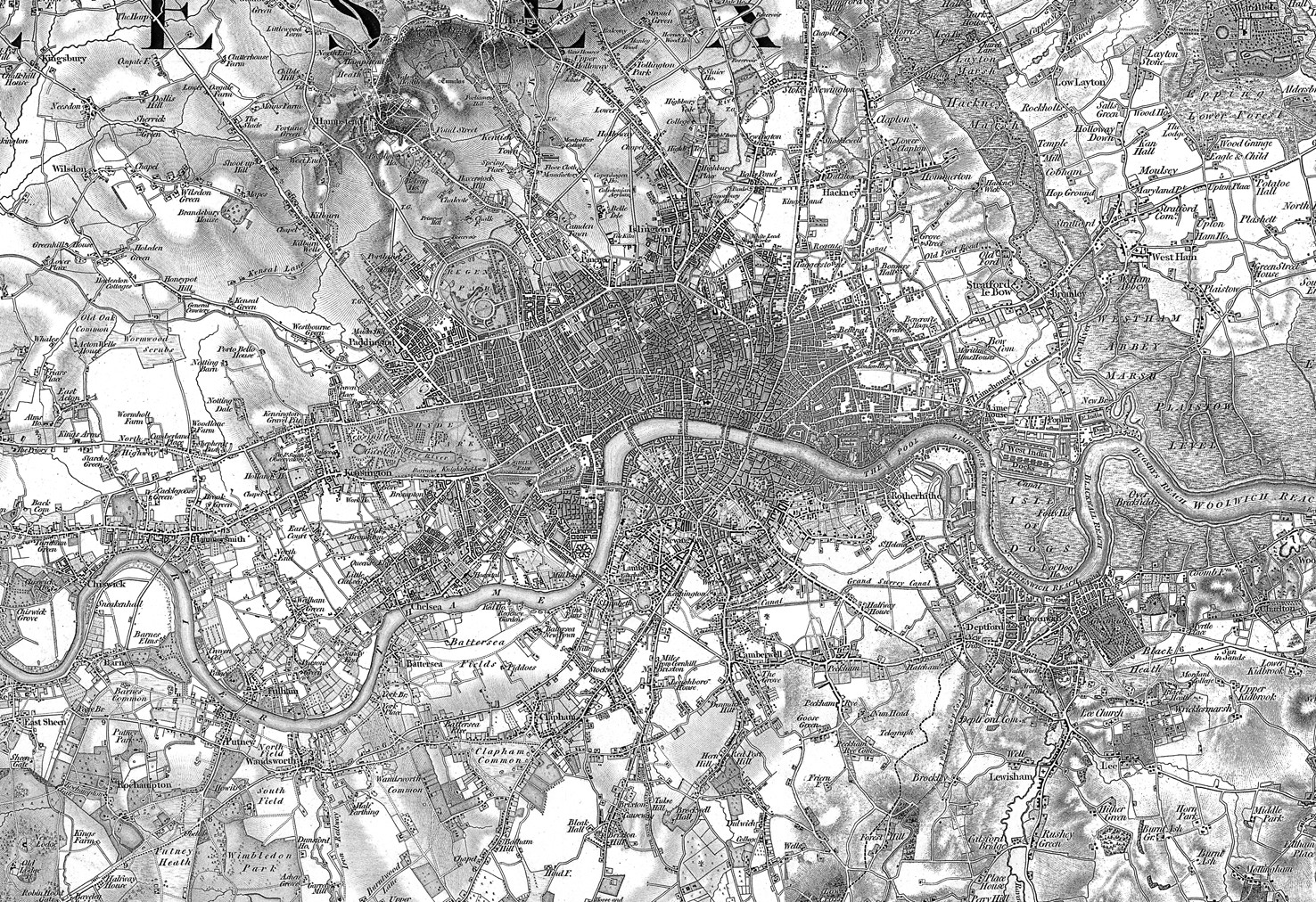 Old London Map Wallpaper