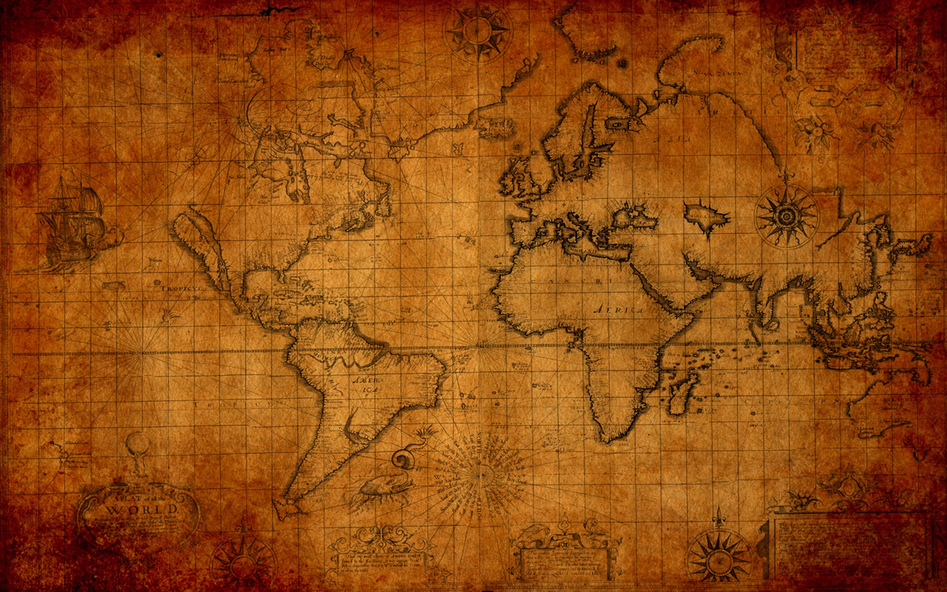 Old Maps Wallpaper
