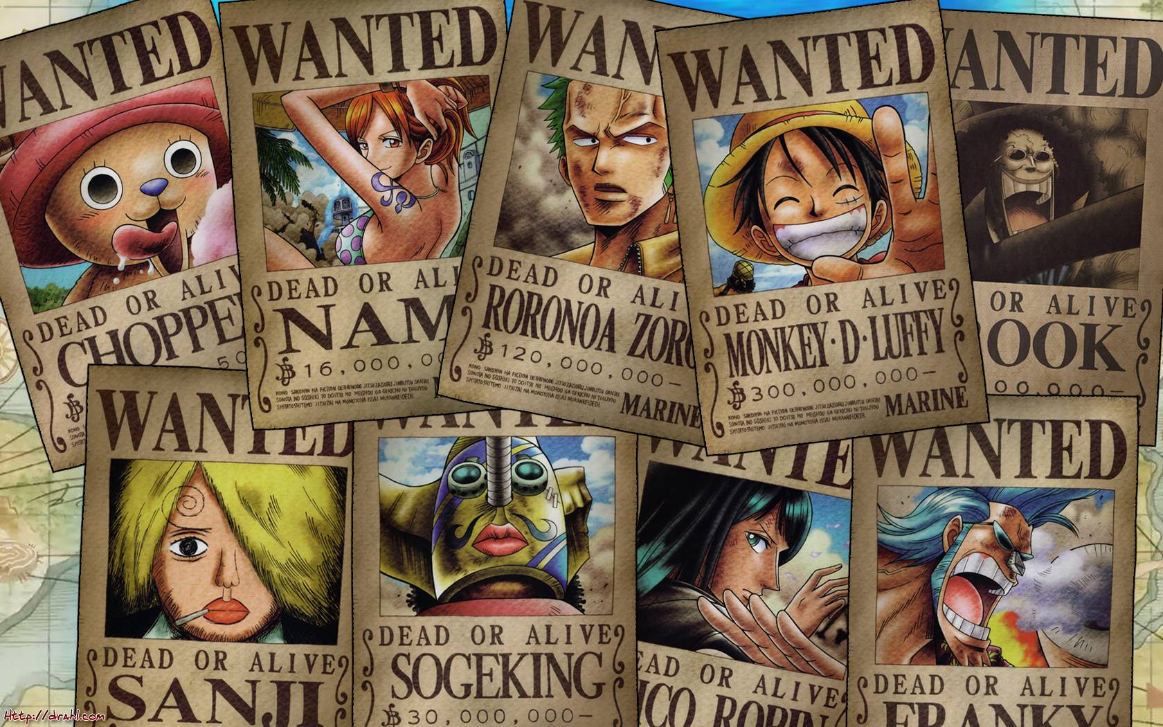 One Piece Wallpaper Wanted Poster