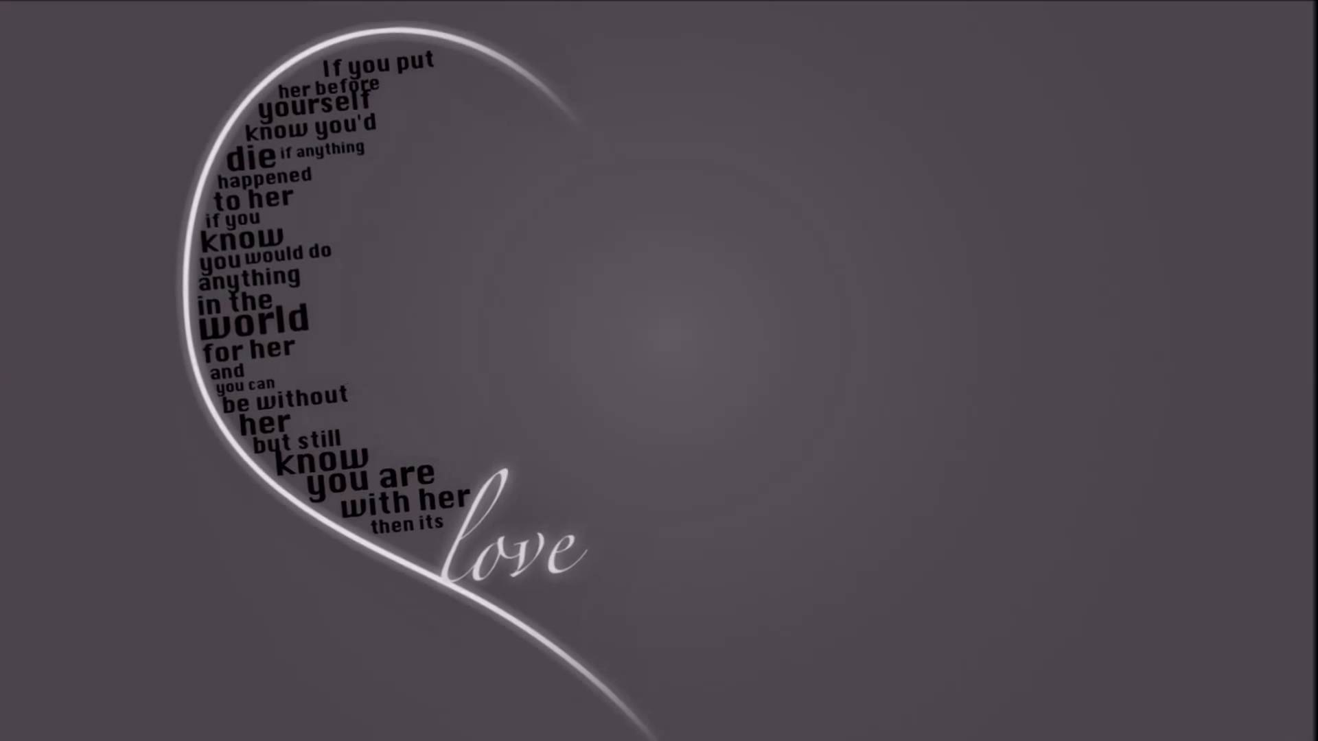 One Sided Love Wallpaper