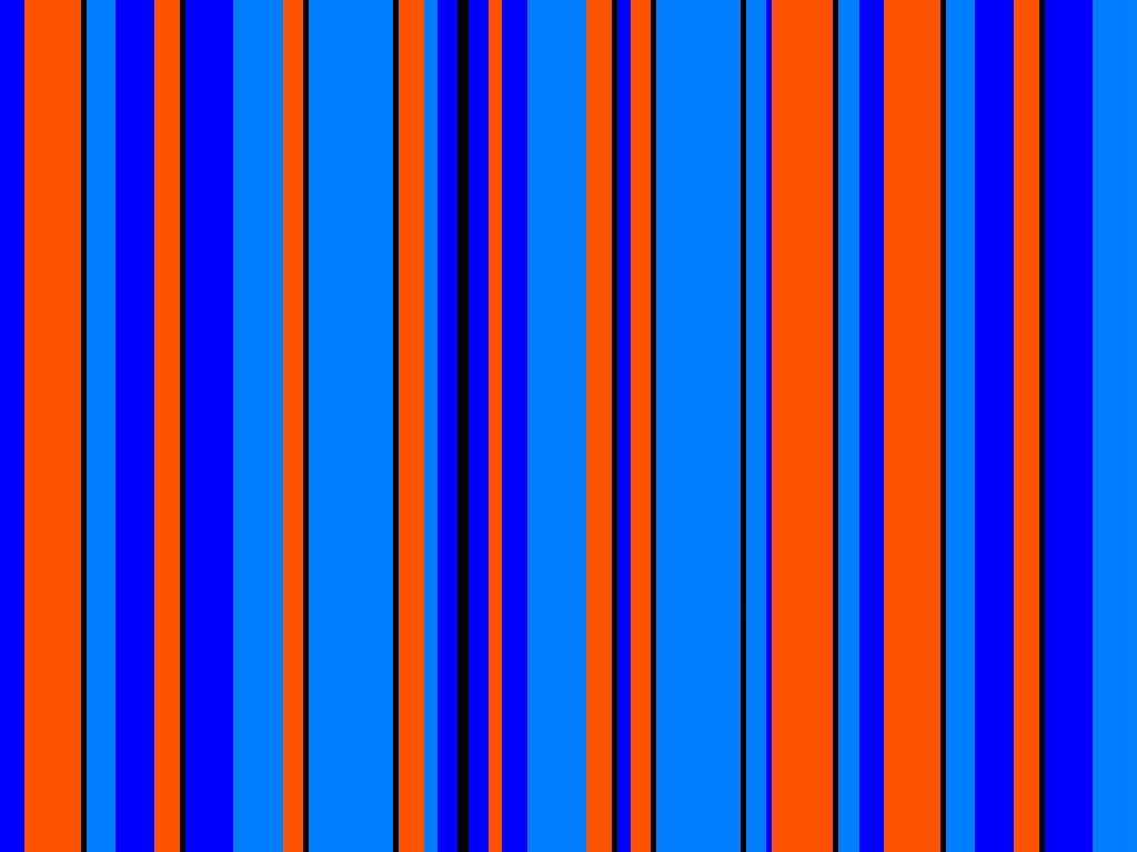 Orange And Blue Striped Wallpaper