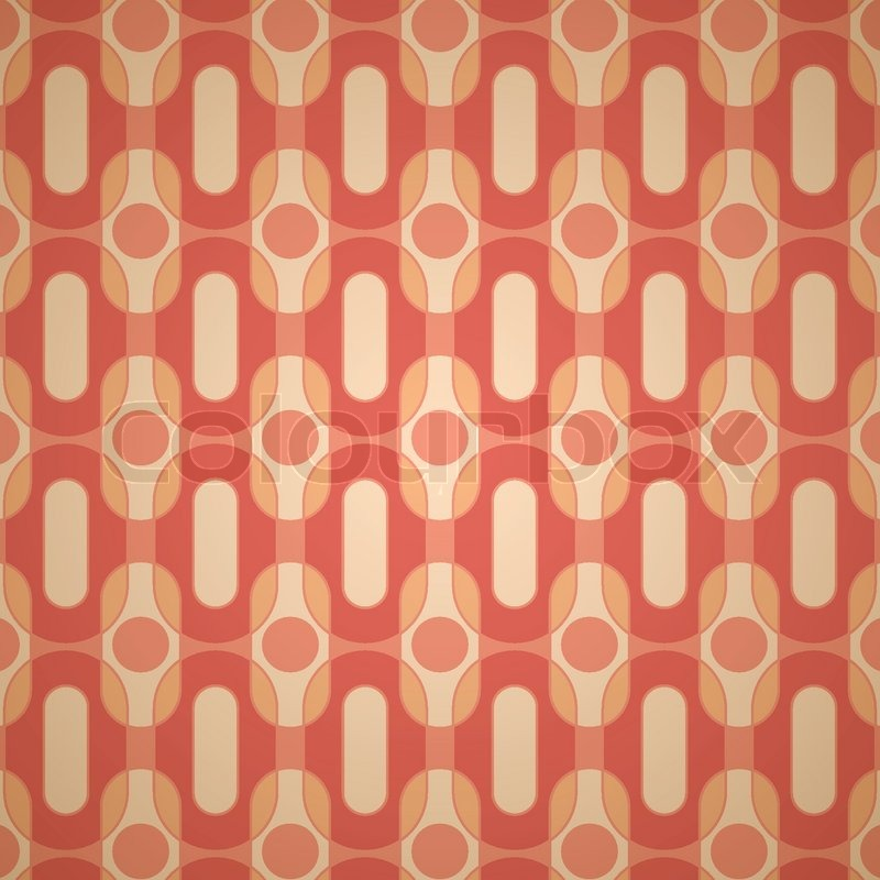 Orange And Brown Retro Wallpaper