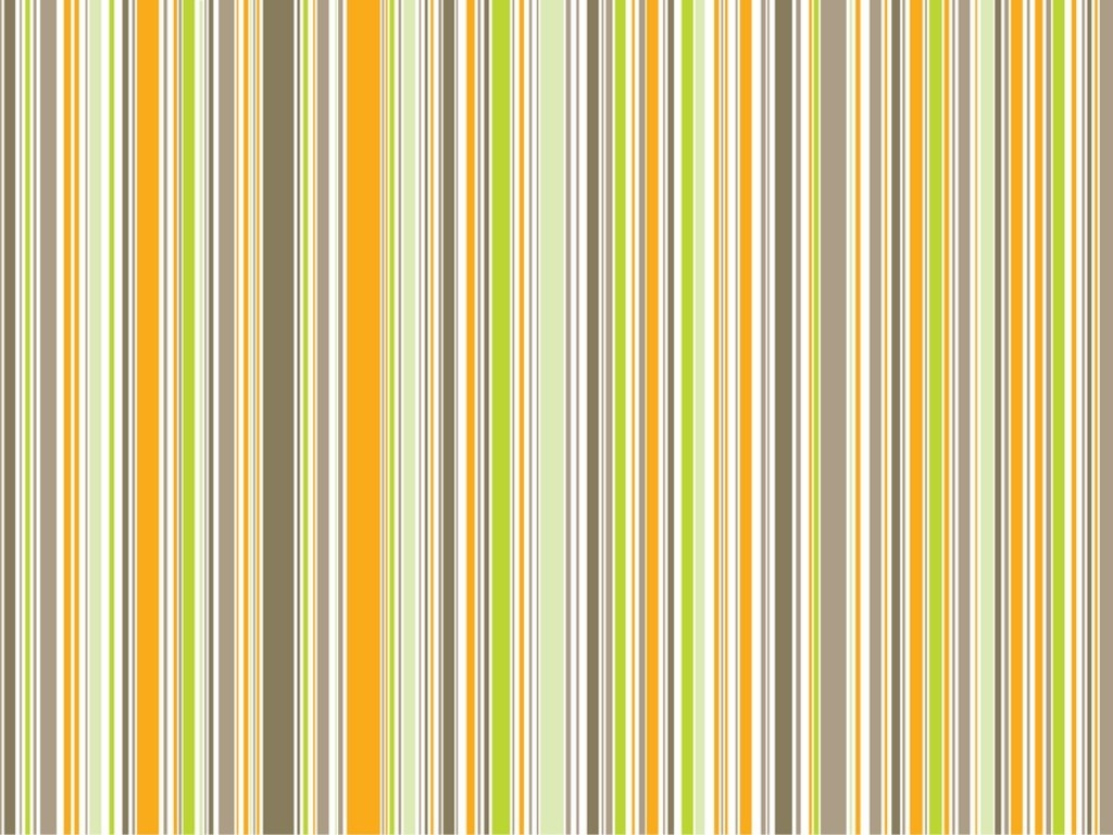 Orange And Green Striped Wallpaper