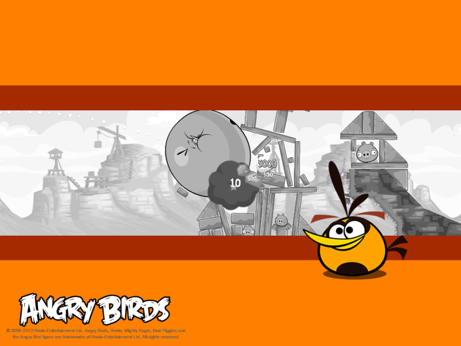 Orange Bird Wallpaper