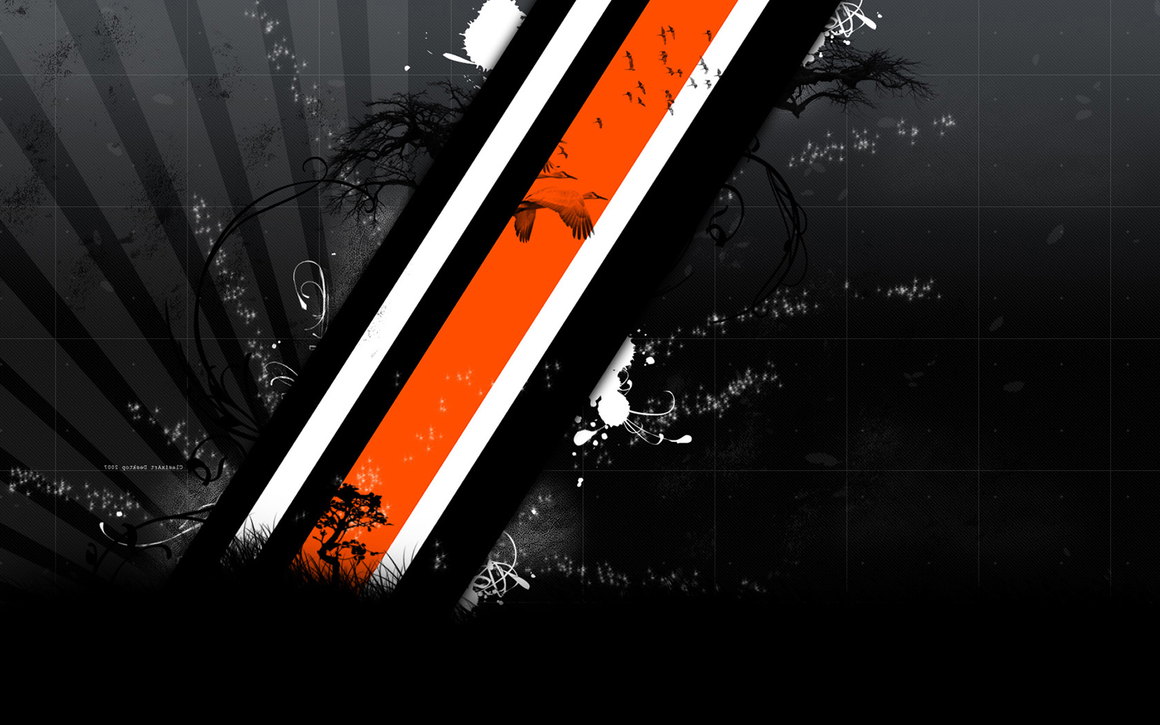 Orange Black And White Wallpaper