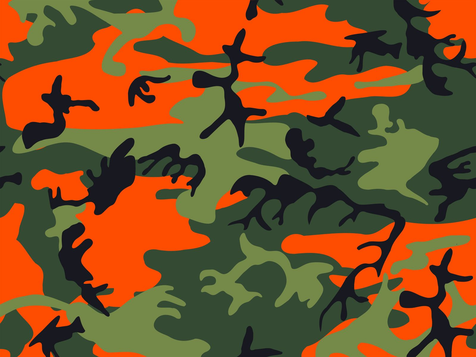 Orange Camo Wallpaper