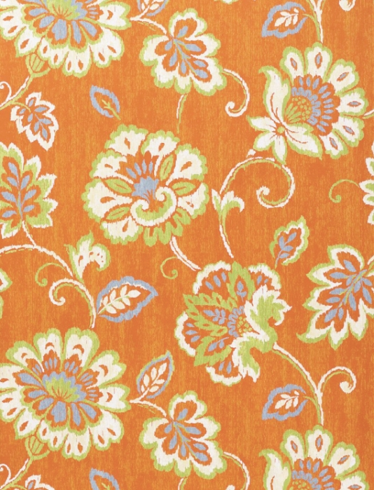 Orange Floral Wallpaper