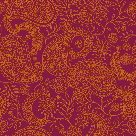 Download Orange Paisley Wallpaper Gallery