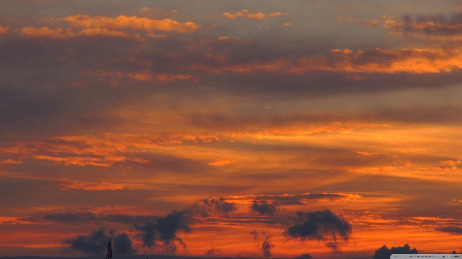 Download Orange Sky Wallpaper Gallery Black And Silver Background